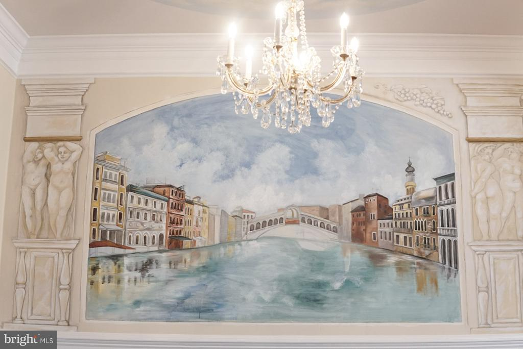 Hand drawn painting in dinning room - 7974 VIGNE CT, VIENNA