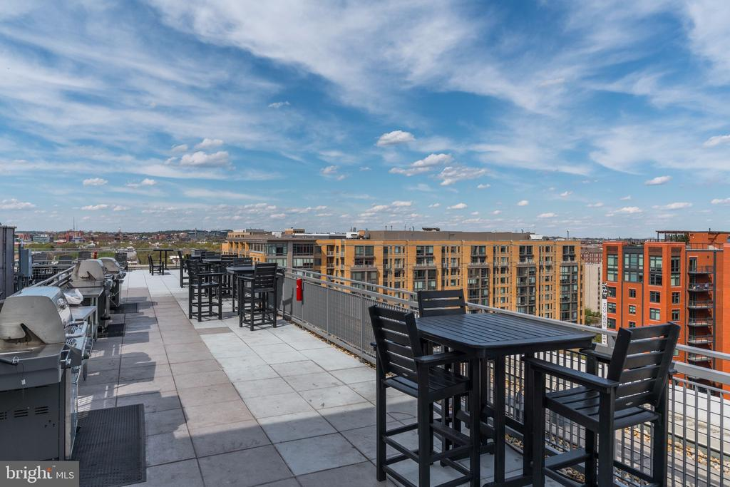 Gorgeous rooftop views with grills/seating - 555 MASSACHUSETTS AVE NW #217, WASHINGTON