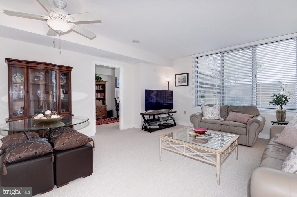 Combined dining/living area - 555 MASSACHUSETTS AVE NW #217, WASHINGTON