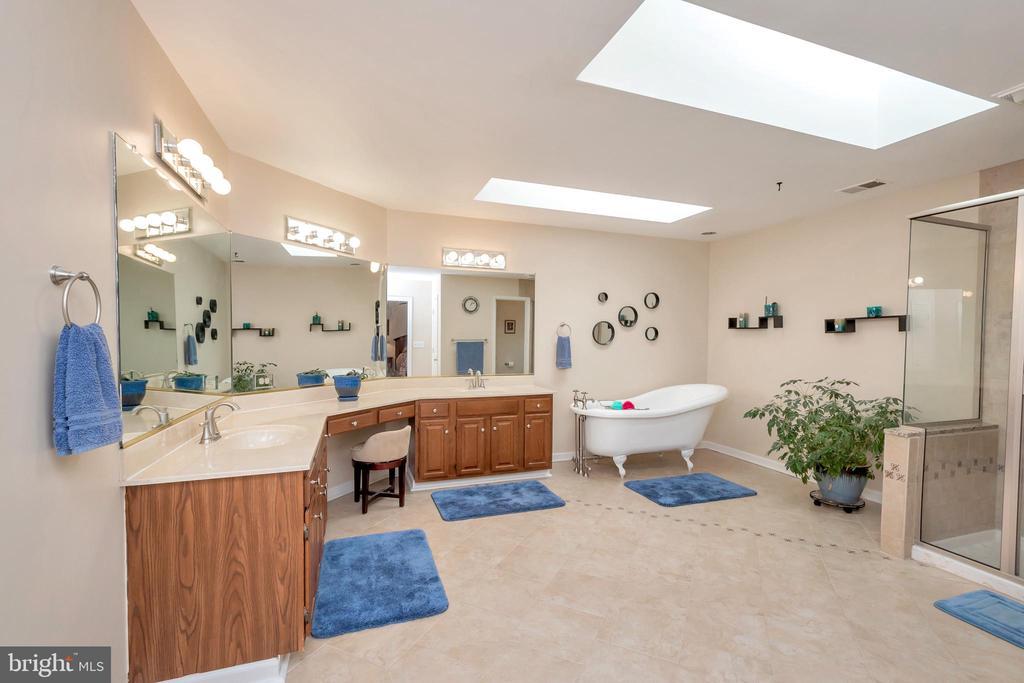 MastBath  with ceramic shower & claw foot bathtub - 2999 LUSITANIA DR, STAFFORD