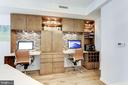 Two work stations with metal tile wall accents - 11990 MARKET ST #1103, RESTON