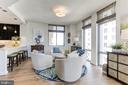 Dining Room w/floor-to-ceiling windows - 11990 MARKET ST #1103, RESTON