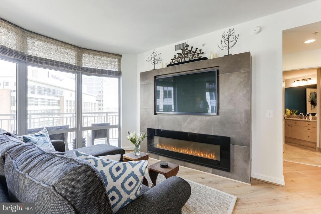 Living Room opens to balcony - 11990 MARKET ST #1103, RESTON