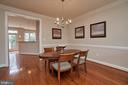 Host family and friends in the dining room space. - 1220 S GLEBE RD, ARLINGTON
