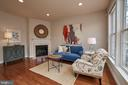 Family room has central gas fireplace. - 1220 S GLEBE RD, ARLINGTON