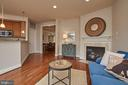 Relax in the family room while dinner cooks. - 1220 S GLEBE RD, ARLINGTON