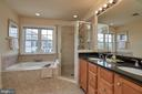 Luxurious master bath with double vanity. - 1220 S GLEBE RD, ARLINGTON