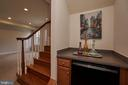 Lower level includes mini fridge & lots of light! - 1220 S GLEBE RD, ARLINGTON
