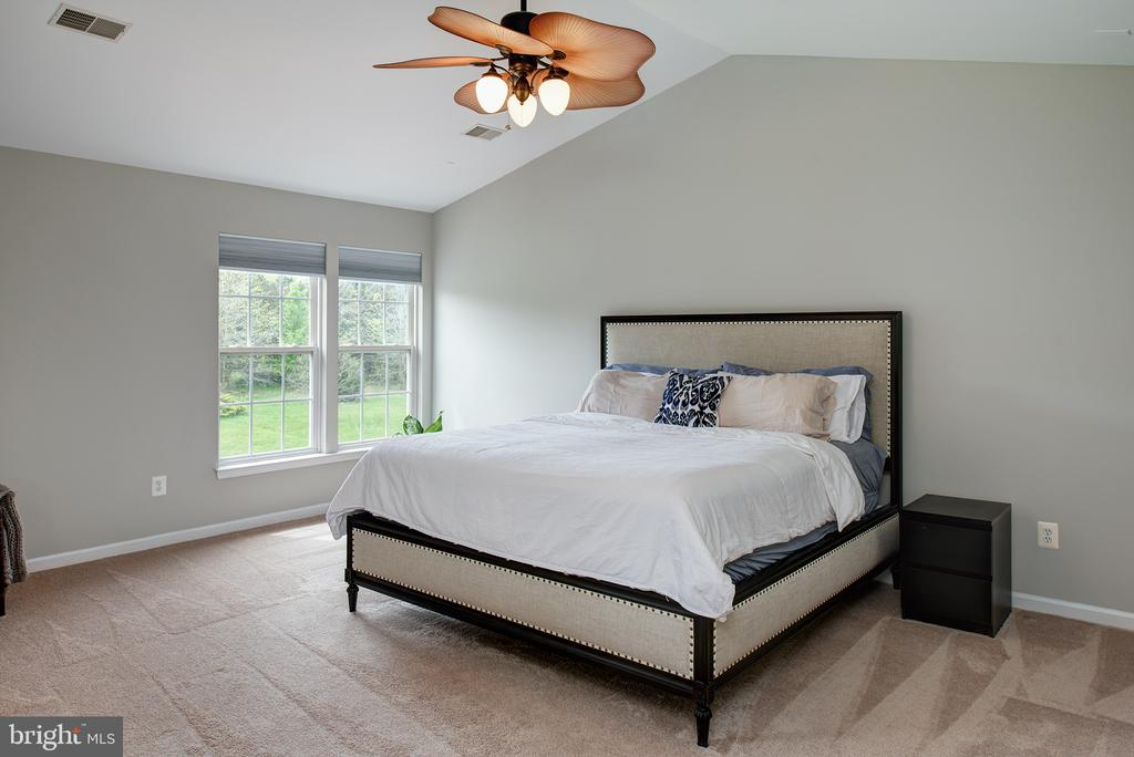 Master bedroom with cathedral ceiling - 11384 FALLING CREEK DR, BEALETON