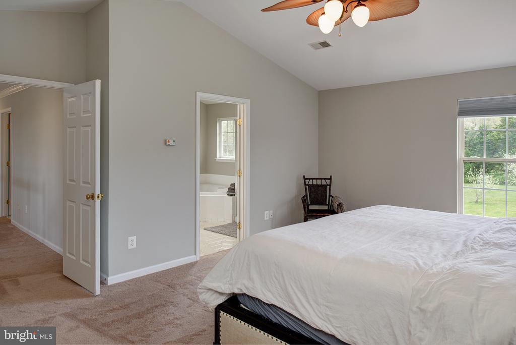 Master bedroom overlooks huge green space - 11384 FALLING CREEK DR, BEALETON