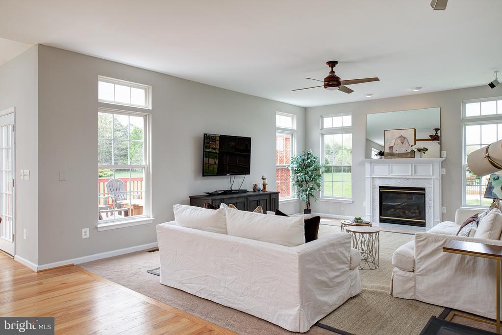 Gas fireplace & amazing windows - 11384 FALLING CREEK DR, BEALETON