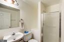 Full Bathroom in Basement - 46553 PEBBLEBROOK PL, STERLING