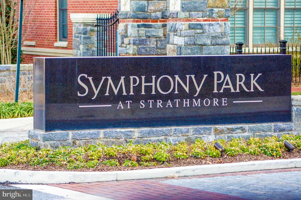 Entrance to Symphony Park - 5124 STRATHMORE AVE, NORTH BETHESDA