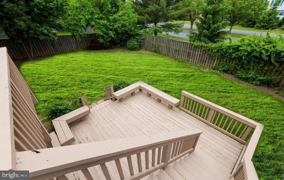Backyard- patio - 1403 CAMPBELL CT NE, LEESBURG