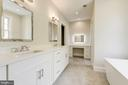 Master bath with dressing table & double vanities - 2939 STEPHENSON PL NW, WASHINGTON