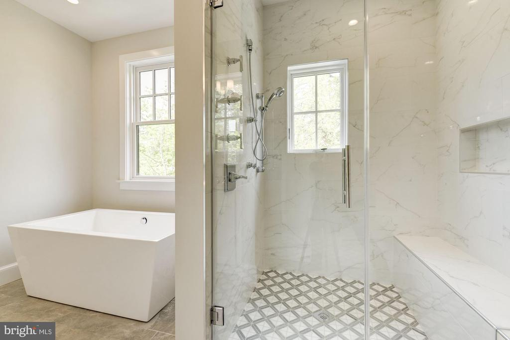 Master bathroom w/soaking tub and opulent shower - 2939 STEPHENSON PL NW, WASHINGTON