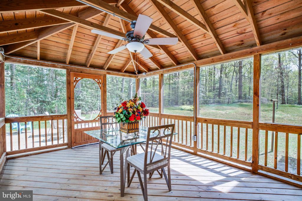 Note fan on screened porch - 8427 BATTLE PARK DR, SPOTSYLVANIA
