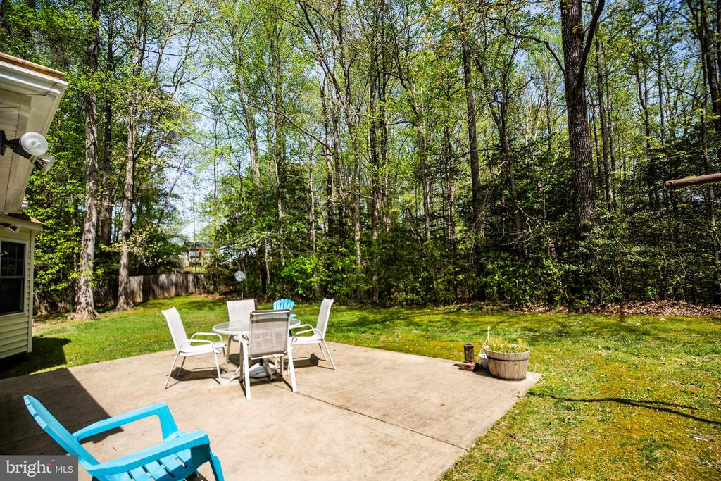 Patio view - 8427 BATTLE PARK DR, SPOTSYLVANIA