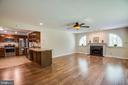 Family room and kitchen view - 8427 BATTLE PARK DR, SPOTSYLVANIA