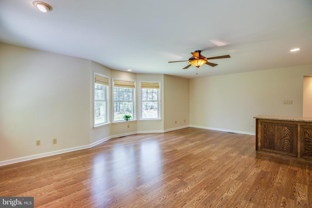 Huge family room with bay window alcove - 8427 BATTLE PARK DR, SPOTSYLVANIA