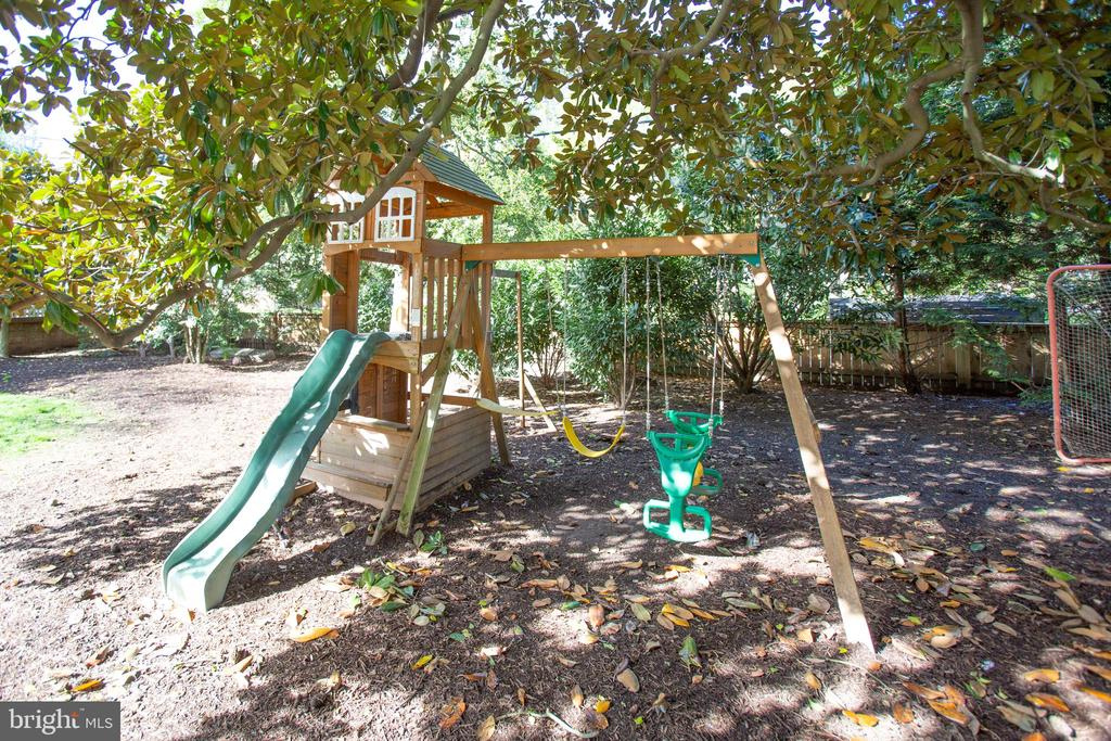 Playground in the fenced yard - 814 CORNELL ST, FREDERICKSBURG