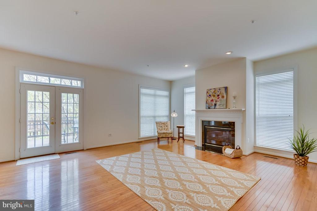 Family Room With Gas Fireplace - 1869 AMBERWOOD MANOR CT, VIENNA
