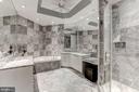 Marble Master Bath w/Dual Sinks & Make-Up Vanity - 1881 N NASH ST #1910, ARLINGTON