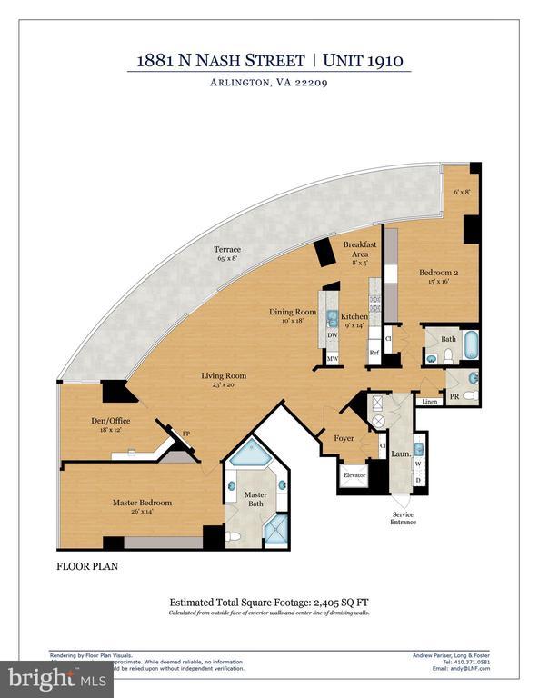 Floor Plan - 1881 N NASH ST #1910, ARLINGTON