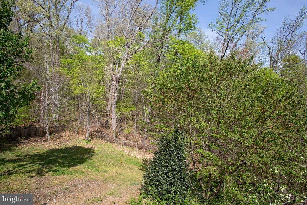 Large fenced back yard and backs to woods - 1106 GREAT OAKS LN, FREDERICKSBURG