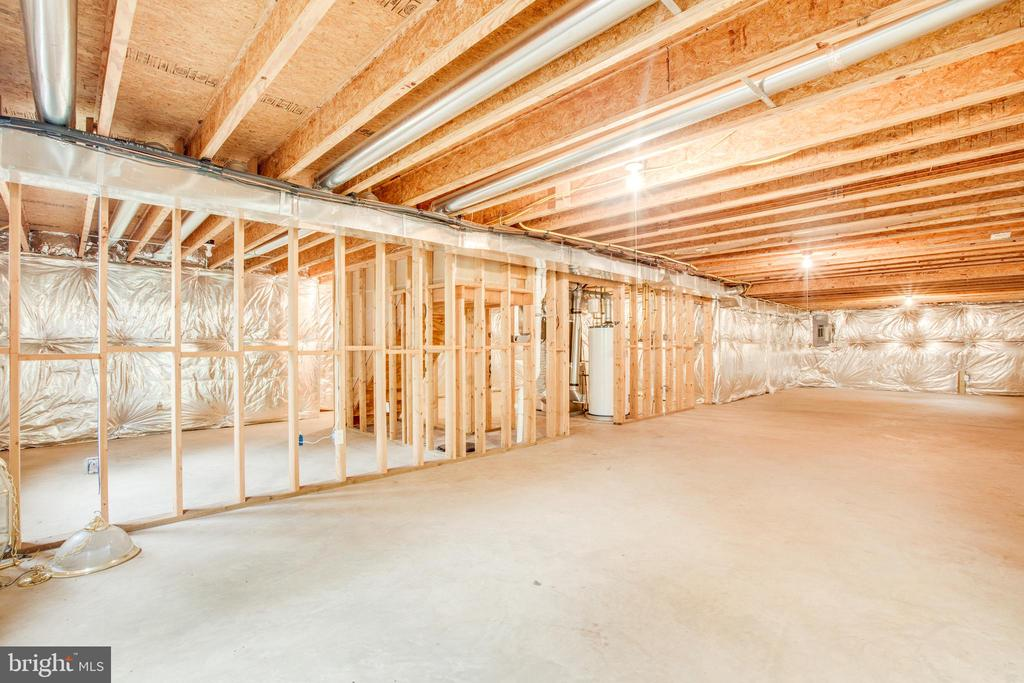 Unfinished basement ready to be finished! - 1106 GREAT OAKS LN, FREDERICKSBURG