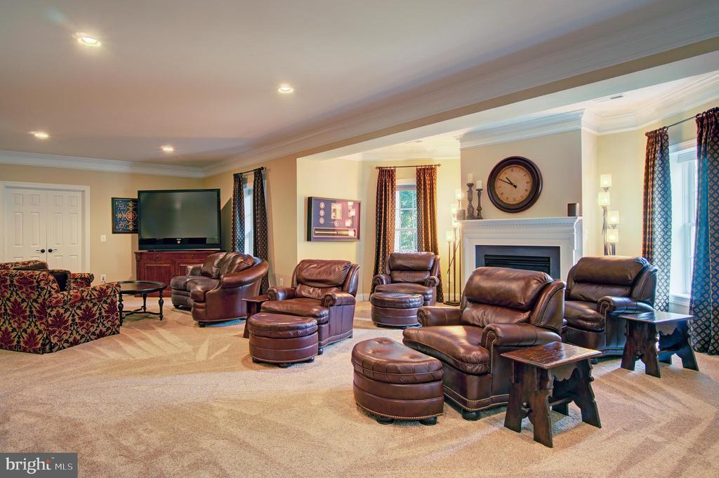 Spacious Walkout Level Rec Room w/ Fireplace - 36158 SILCOTT MEADOW PL, PURCELLVILLE