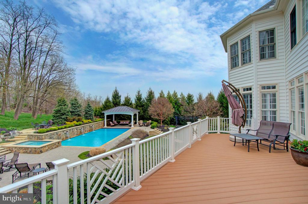Composite Deck Overlooking the Backyard - 36158 SILCOTT MEADOW PL, PURCELLVILLE