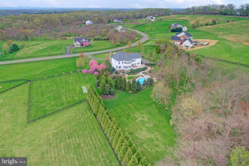 Aerial View  of the Back of the Property - 36158 SILCOTT MEADOW PL, PURCELLVILLE