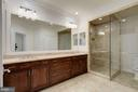 Expansive Master Bath with Dual Vanity - 5124 STRATHMORE AVE, NORTH BETHESDA