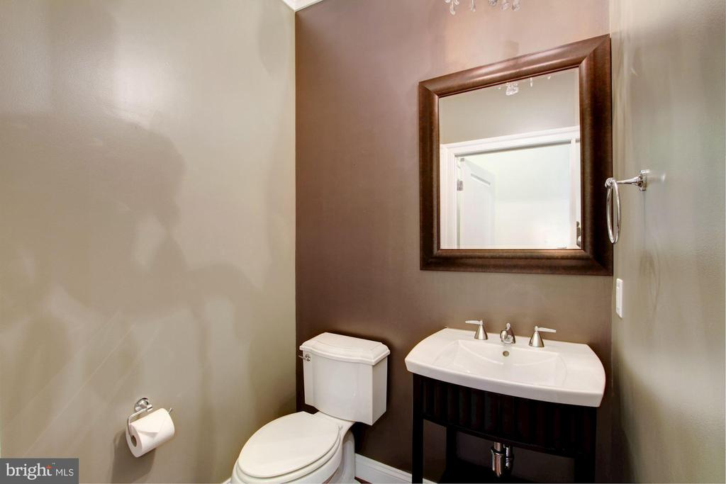 Formal Powder Room w/Waterworks Fixtures - 5124 STRATHMORE AVE, NORTH BETHESDA
