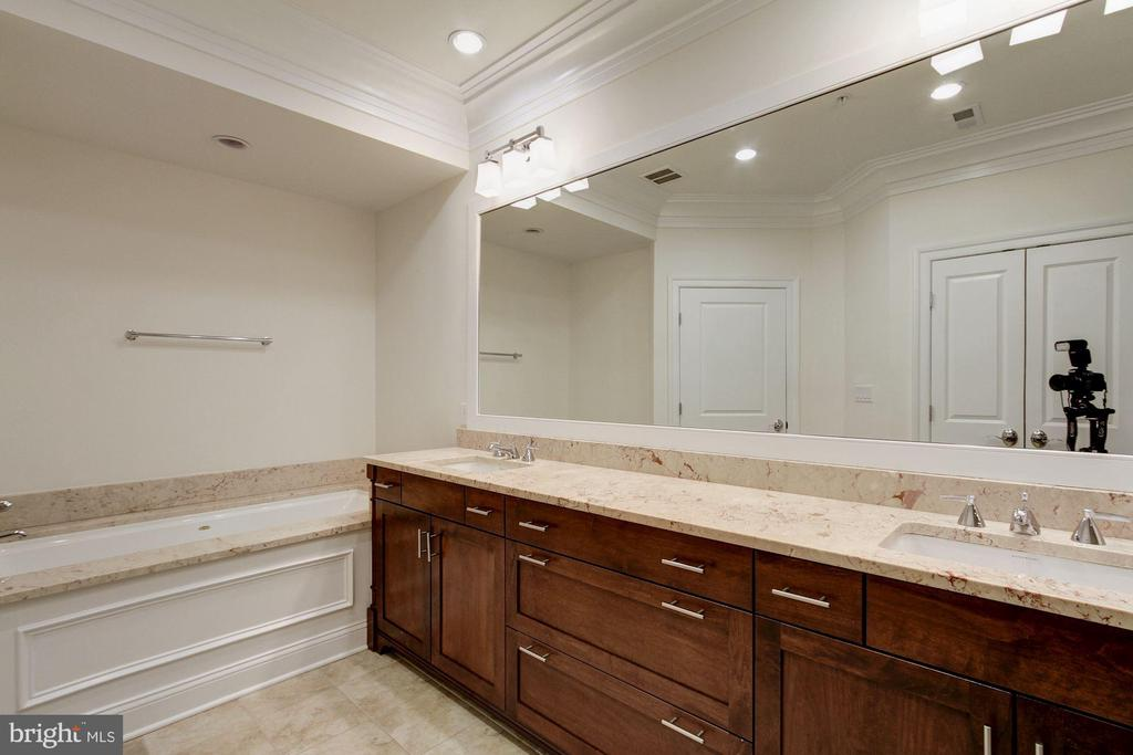 Luxurious Master Bath with Waterworks Fixtures - 5124 STRATHMORE AVE, NORTH BETHESDA