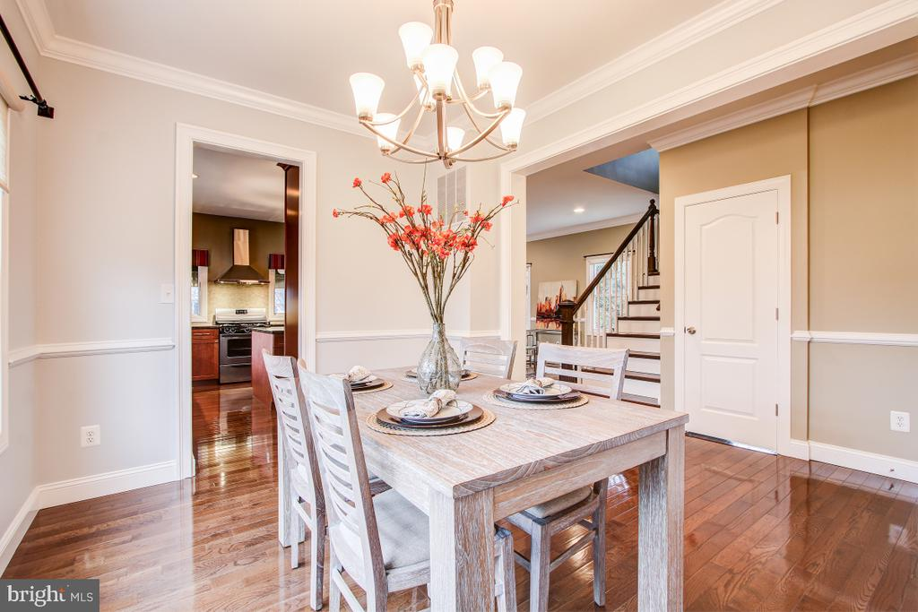Upgraded lighting and room for a large table - 1730 S FILLMORE ST, ARLINGTON