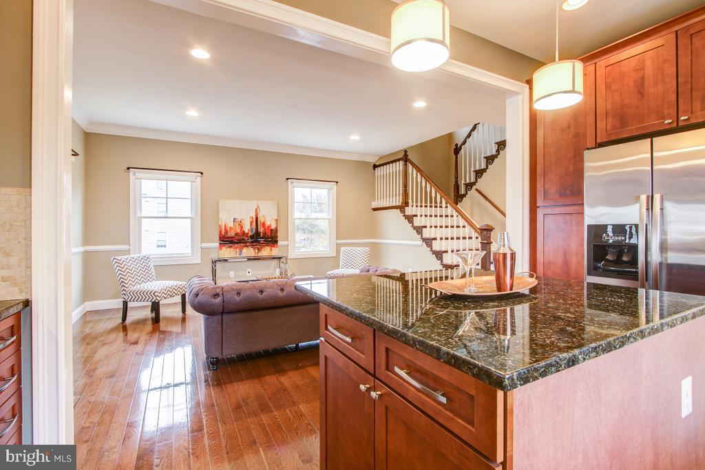 Easy flow from Kitchen to Family Room - 1730 S FILLMORE ST, ARLINGTON