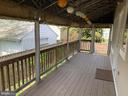 Covered composite deck with custom drop downs - 1730 S FILLMORE ST, ARLINGTON