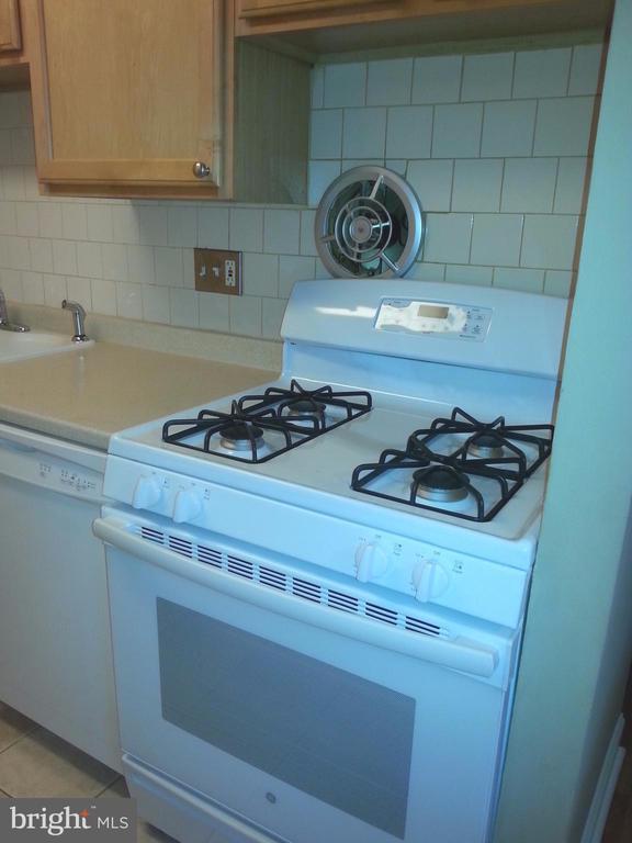 Kitchen-Gas Range - 7606 SAVANNAH ST #104, FALLS CHURCH