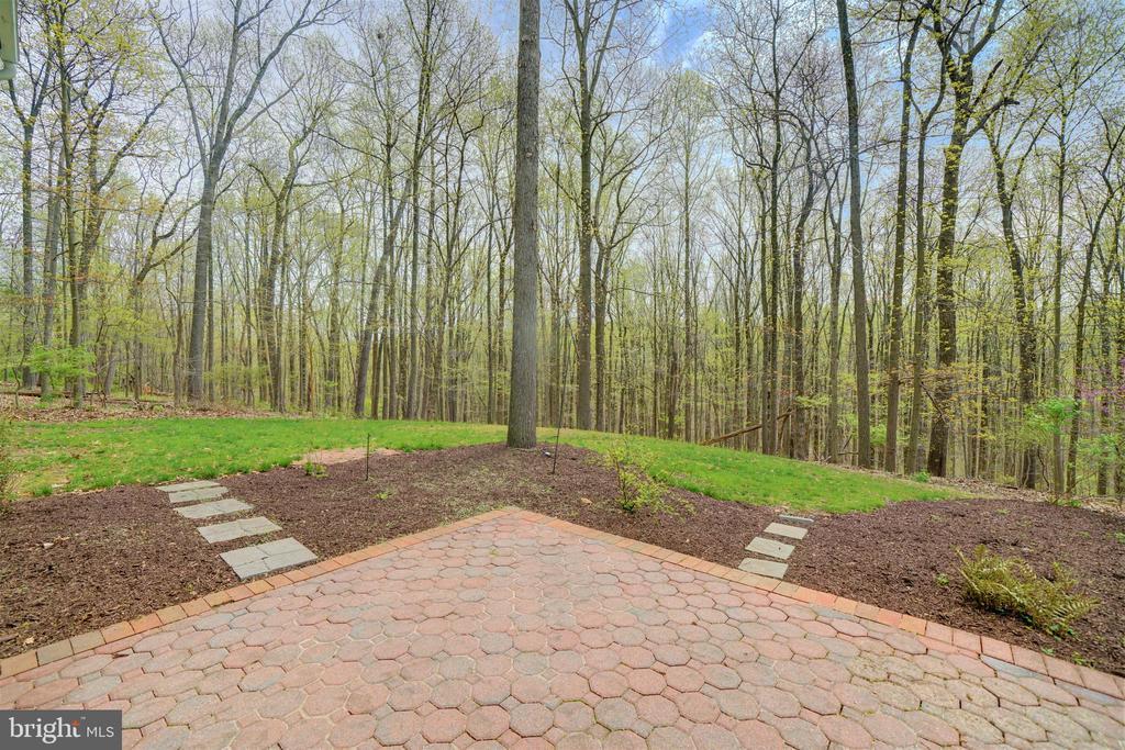 Brick Patios in Rear of House Backing to Trees - 12126 MERRICKS CT, MONROVIA