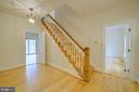 Foyer with Hardwood Floors & Staircase - 12126 MERRICKS CT, MONROVIA