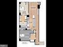 Floor Plan of the Unit - 715 6TH ST NW #205, WASHINGTON