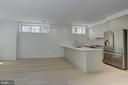 Island in gourmet kitchen with natural light, too - 1101 Q ST NW #102, WASHINGTON