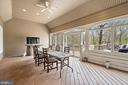 Screened in Porch  opens onto an spacious  Deck - 23590 SALLY MILL RD, MIDDLEBURG