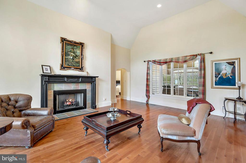 Living Room with Gas Fireplace - 23590 SALLY MILL RD, MIDDLEBURG