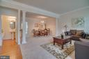 Living Room Open to Dining Room - 20129 PRAIRIE DUNES TER, ASHBURN