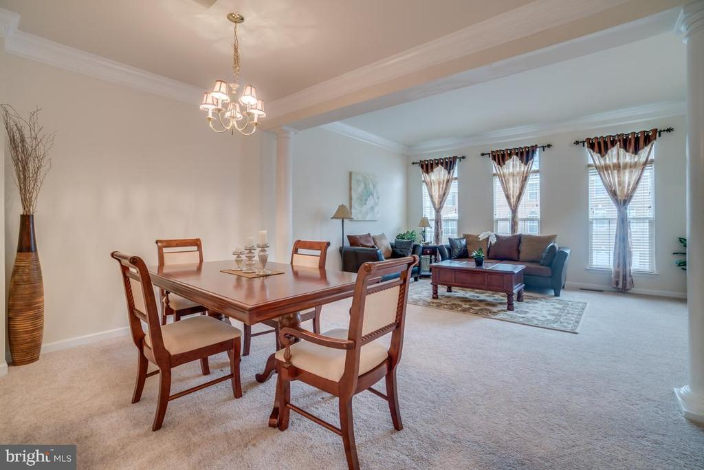 Dining Room with Crown Molding - 20129 PRAIRIE DUNES TER, ASHBURN