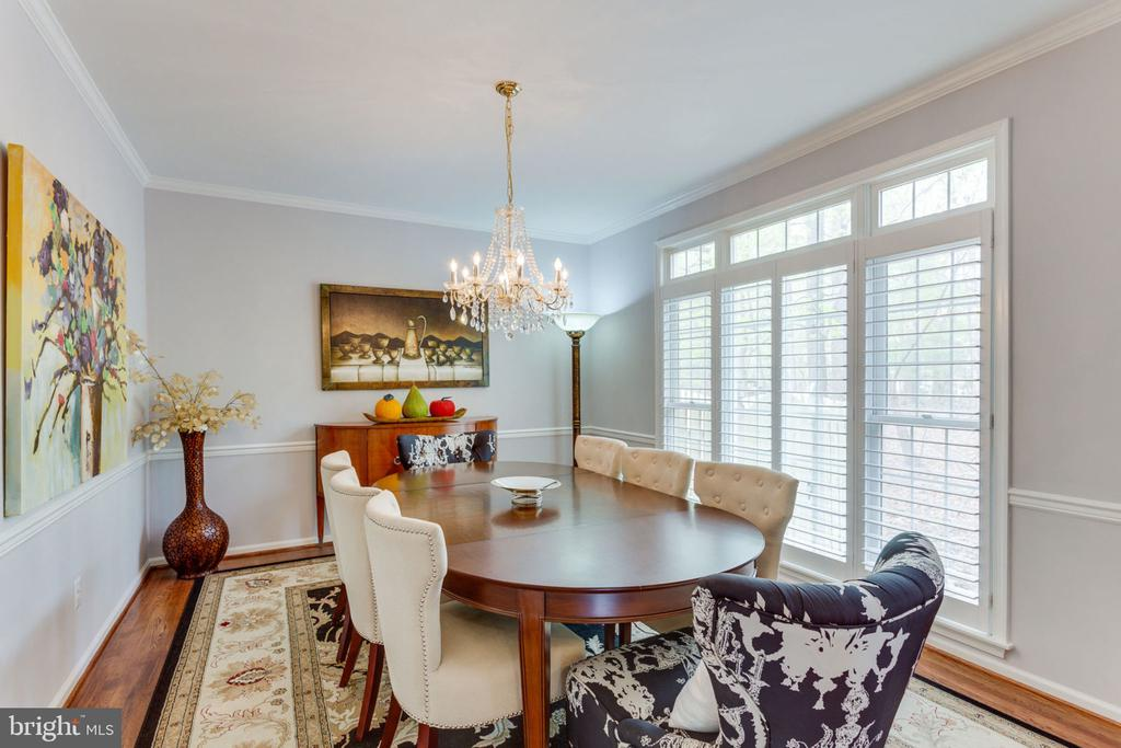 Dining Room With Transom Windows - 2232 CENTRAL AVE, VIENNA