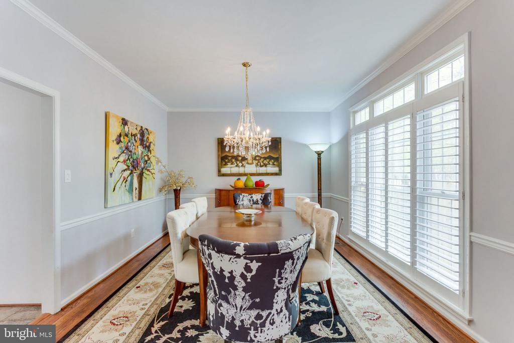 Dining Room With Chair and Crown Molding - 2232 CENTRAL AVE, VIENNA